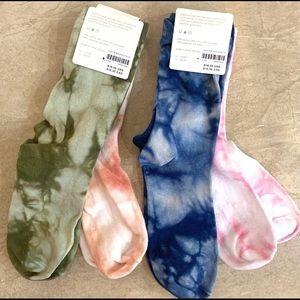 Anthropologie Hansel From Basel Tie-Dye 2 Sock Set